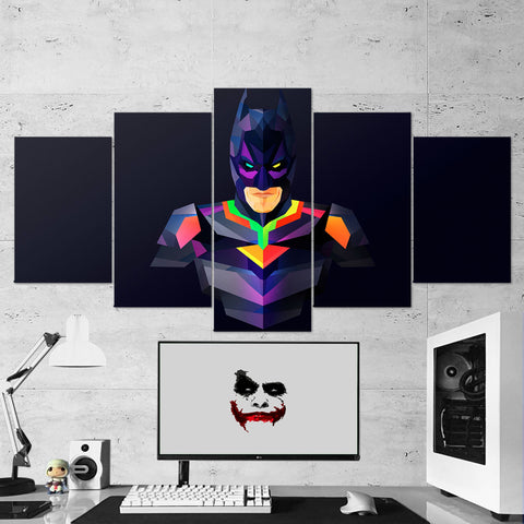 Batman 01- 5 Piece Canvas Wall Art Gaming Canvas