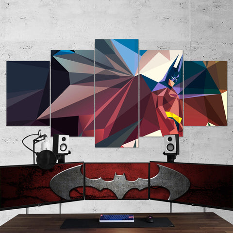 Batman 02 - 5 Piece Canvas Wall Art Gaming Canvas