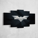 Batman 03 Logo 5 Piece Canvas Wall Art Gaming Canvas