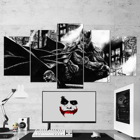 Batman 04 - 5 Piece Canvas Wall Art Gaming Canvas