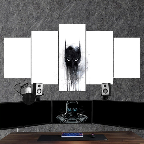 Batman 05 Mask 5 Piece Canvas Wall Art Gaming Canvas