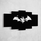 Batman 06 Logo 5 Piece Canvas Wall Art Gaming Canvas