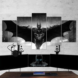 Batman 09 Dark Hero 5 Piece Canvas Wall Art Gaming Canvas