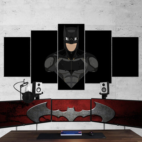 Batman 10 Minimalist 5 Piece Canvas Wall Art Gaming Canvas