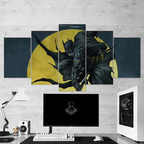 Batman 12 Ninja 5 Piece Canvas Wall Art Gaming Canvas