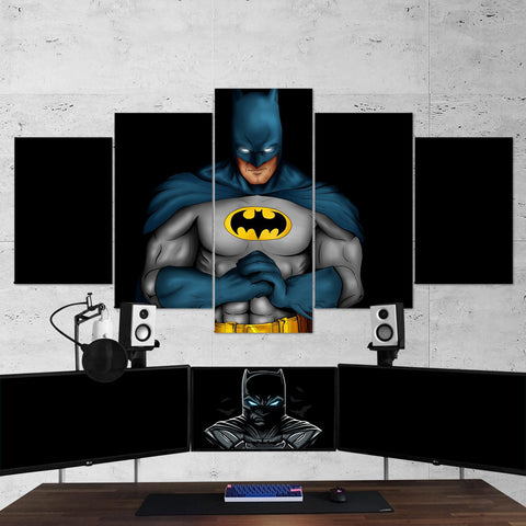 Batman 13 Dark Hero 5 Piece Canvas Wall Art Gaming Canvas