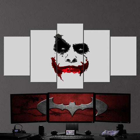 Batman 15 Joker Minimalism 5 Piece Canvas Wall Art Gaming Canvas