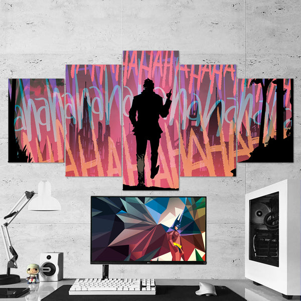 Batman 16 Joker Laugh 5 Piece Canvas Wall Art Gaming Canvas