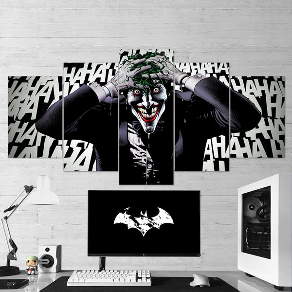 Batman 17 - Joker Canvas Wall Art - 5 Piece Canvas Wall Art