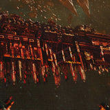 Battlefleet Gothic 02 - 5 Piece Canvas Wall Art Gaming Canvas