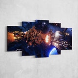 Battlefleet Gothic 03 - 5 Piece Canvas Wall Art Gaming Canvas