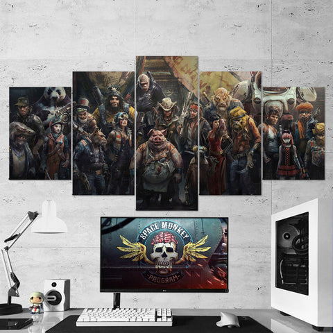 Beyond Good And Evil Canvas Characters 5 Piece Wall Art Gaming Canvas