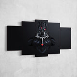 Black Panther 01 Minimalist 5 Piece Canvas Wall Art Gaming Canvas