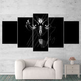 Black Panther 03 Minimalist 5 Piece Canvas Wall Art Gaming Canvas