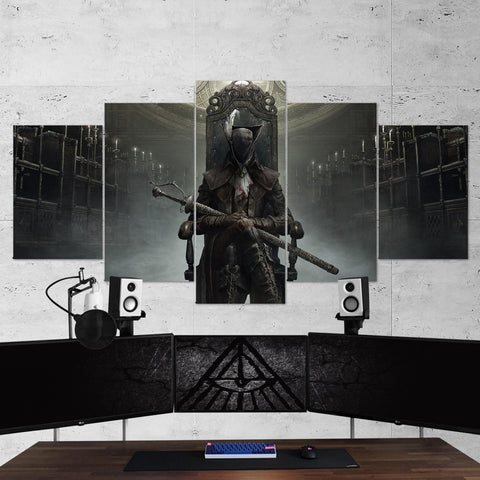 Bloodborne 01 - 5 Piece Canvas Wall Art Gaming Canvas