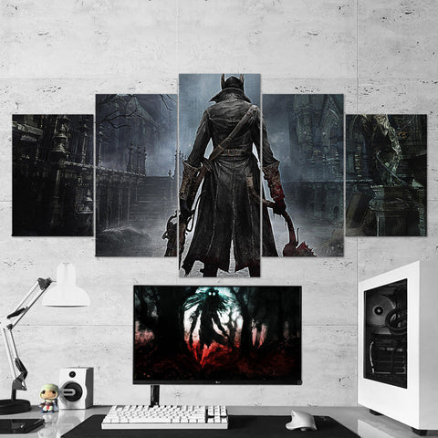 Bloodborne 04 - 5 Piece Canvas Wall Art Gaming Canvas