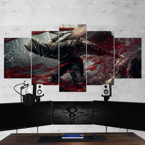 Bloodborne 05 - 5 Piece Canvas Wall Art Gaming Canvas