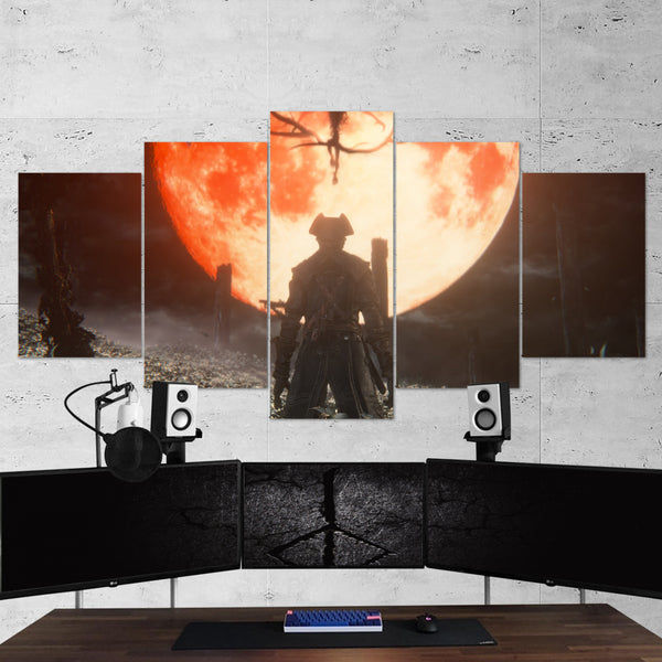 Bloodborne 07 Moon Presence 5 Piece Canvas Wall Art Gaming Canvas