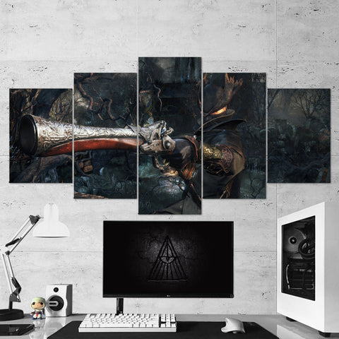 Bloodborne 08 - 5 Piece Canvas Wall Art Gaming Canvas