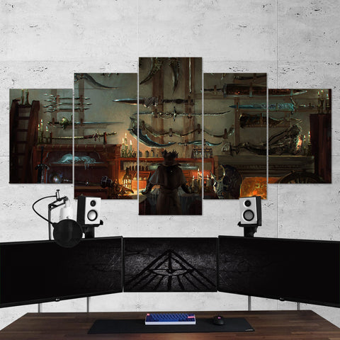 Bloodborne 09 - 5 Piece Canvas Wall Art Gaming Canvas
