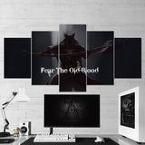Bloodborne 11 For The Old Blood 5 Piece Canvas Wall Art Gaming Canvas