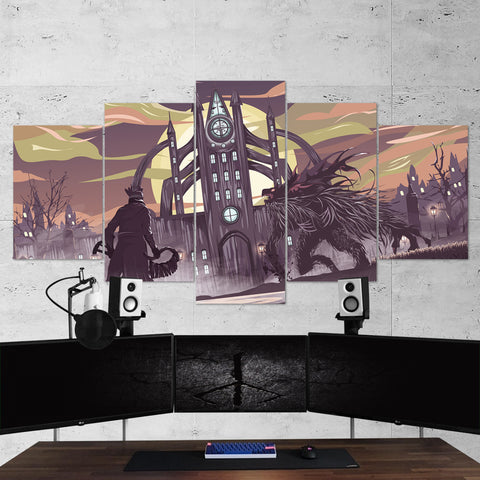 Bloodborne 12 Artwork 5 Piece Canvas Wall Art Gaming Canvas