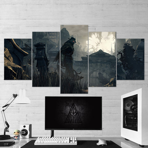 Bloodborne 13 - 5 Piece Canvas Wall Art Gaming Canvas