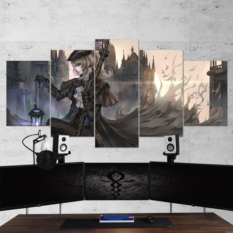 Bloodborne 14 Lady Maria 5 Piece Canvas Wall Art Gaming Canvas