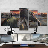 Bloodborne 15 Gas Mask Artwork 5 Piece Canvas Wall Art Gaming Canvas