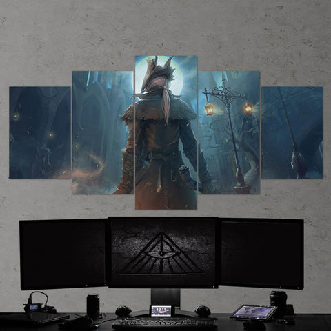 Bloodborne 16 - 5 Piece Canvas Wall Art Gaming Canvas