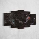 Bloodborne 17 Ludwig The Accursed 5 Piece Canvas Wall Art Gaming Canvas