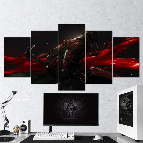 Bloodborne 18 Knight Sword 5 Piece Canvas Wall Art Gaming Canvas