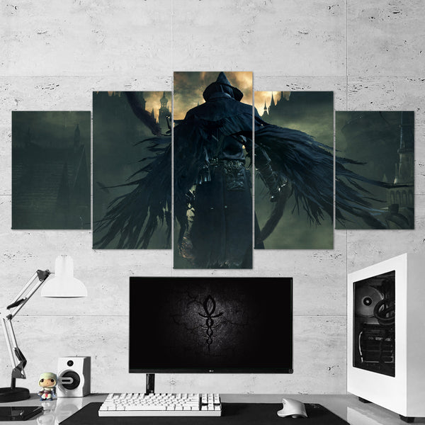 Bloodborne 20 Dark Souls Wings 5 Piece Canvas Wall Art Gaming Canvas