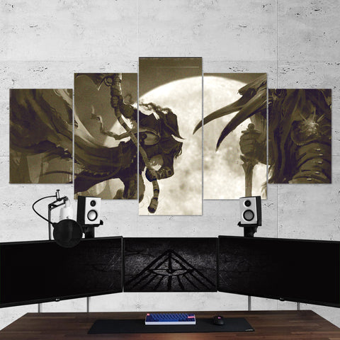 Bloodborne 21 - 5 Piece Canvas Wall Art Gaming Canvas