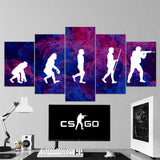 CS GO Canvas 5 Piece Canvas Wall Art