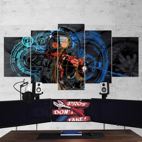 CS:GO Counter-Strike: Global Offensive 02 - 5 Piece Canvas Wall Art Gaming Canvas
