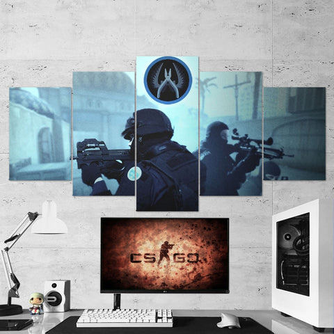 CS:GO Counter-Strike: Global Offensive 03 - 5 Piece Canvas Wall Art Gaming Canvas