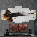 CS:GO Counter-Strike: Global Offensive 04 - 5 Piece Canvas Wall Art Gaming Canvas