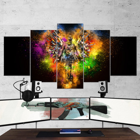 CS:GO Counter-Strike: Global Offensive 08 - 5 Piece Canvas Wall Art Gaming Canvas