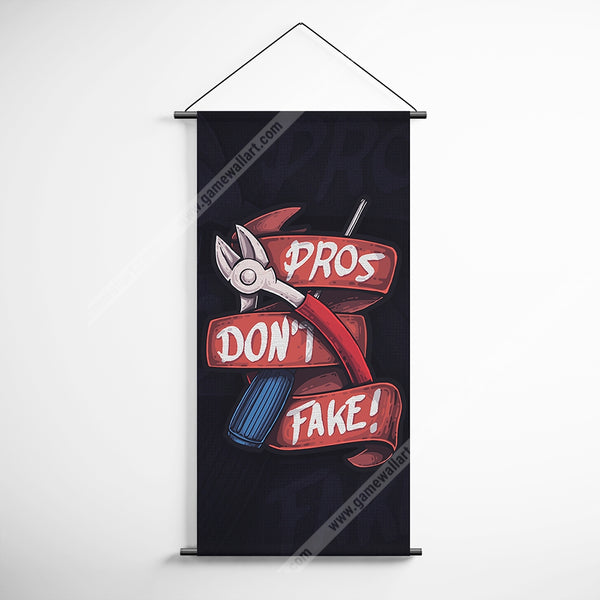 CSGO 09 Counter Strike Global Offensive Pros Don't Fake! Decorative Banner Flag for Gamers