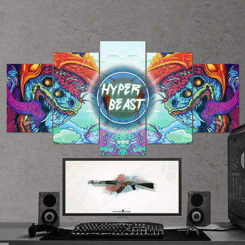 CS:GO Counter-Strike: Global Offensive 12 - 5 Piece Canvas Wall Art Gaming Canvas