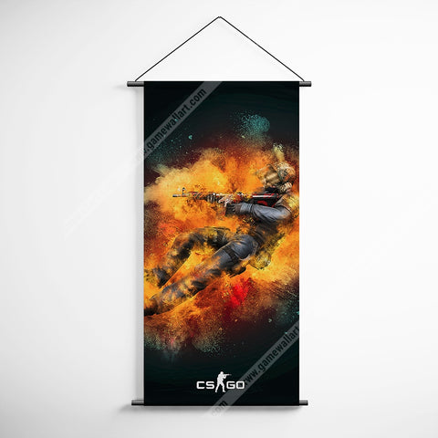 CSGO 14 Counter Strike Global Offensive Decorative Banner Flag for Gamers