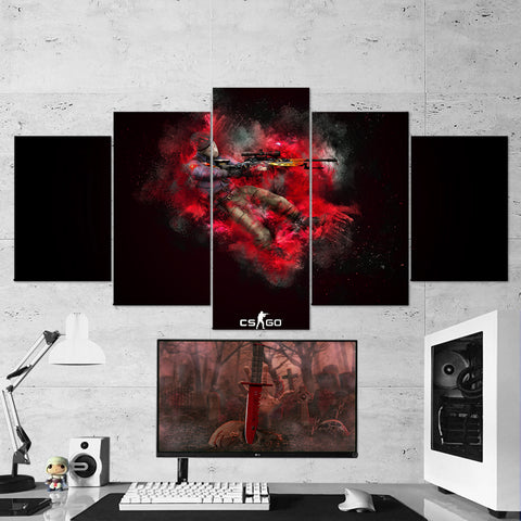 CS:GO Counter-Strike: Global Offensive 15 - 5 Piece Canvas Wall Art Gaming Canvas