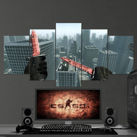 CS:GO Counter-Strike: Global Offensive 19 5 Piece Canvas Wall Art Gaming Canvas