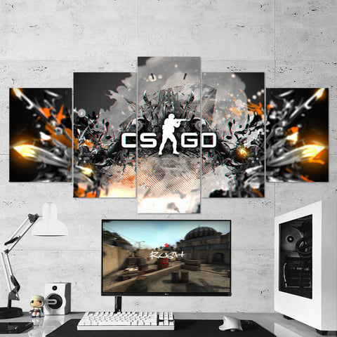 CS:GO Counter-Strike: Global Offensive 20 5 Piece Canvas Wall Art Gaming Canvas