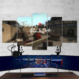 CS:GO Counter-Strike: Global Offensive 22 Rush B 5 Piece Canvas Wall Art Gaming Canvas