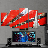 CS:GO Counter-Strike: Global Offensive 26 - 5 Piece Canvas Wall Art Gaming Canvas