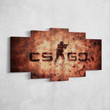 CS:GO Counter-Strike: Global Offensive 27 Logo 5 Piece Canvas Wall Art Gaming Canvas