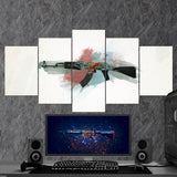 CS:GO Counter-Strike: Global Offensive 28 AK-47 5 Piece Canvas Wall Art Gaming Canvas