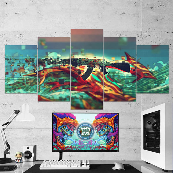 CS:GO Counter-Strike: Global Offensive 29 AK-47 5 Piece Canvas Wall Art Gaming Canvas